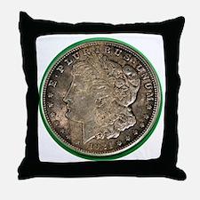 Unique Silver dollar Throw Pillow