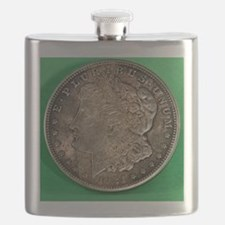 Unique Silver dollar Flask
