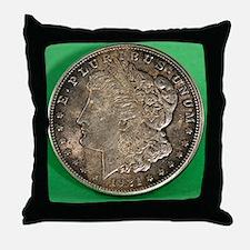 Cute Silver dollar Throw Pillow