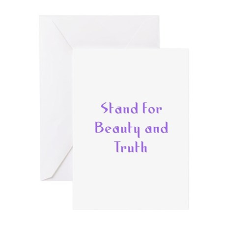 Stand for Beauty and Truth Greeting Cards (Pk of 1