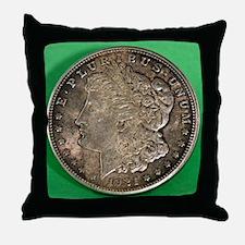 Funny Silver dollar Throw Pillow