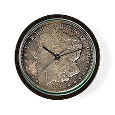 Funny Morgan silver dollar Wall Clock