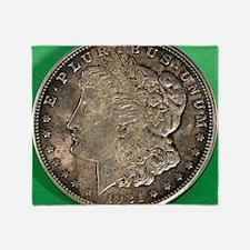 Unique Morgan silver dollar Throw Blanket