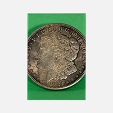 Unique Morgan silver dollar Rectangle Magnet