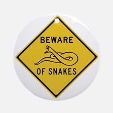 Beware of Snakes, Australia Ornament (Round)
