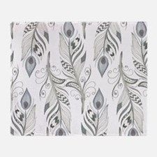 Beautiful Feathers Throw Blanket