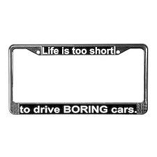 """""""Boring cars"""" License Plate Frame"""