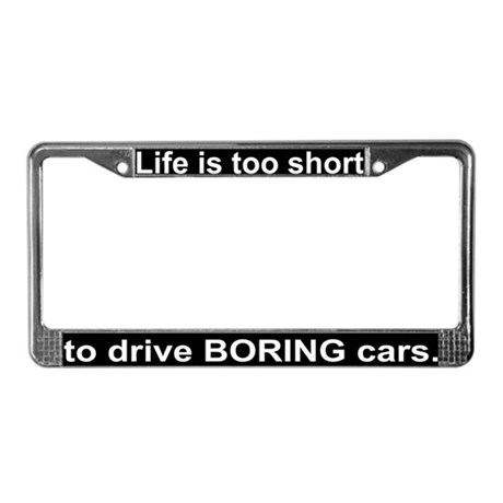 """Boring cars"" License Plate Frame"