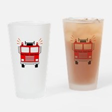 Personalized Fire Truck Drinking Glass
