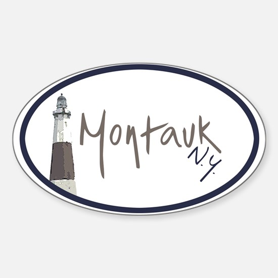 Montauk NY Oval Decal