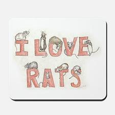 I LOVE RATS Mousepad