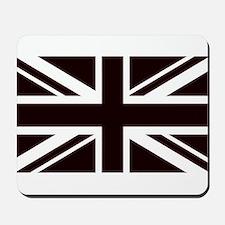 black union jack british flag Mousepad