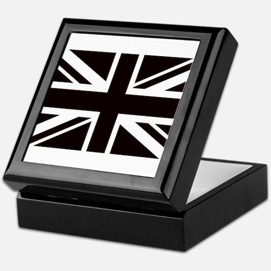 black union jack british flag Keepsake Box