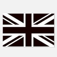 black union jack british Postcards (Package of 8)