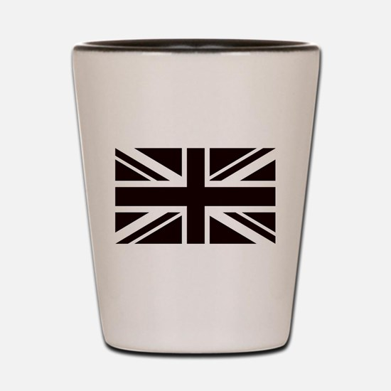 black union jack british flag Shot Glass