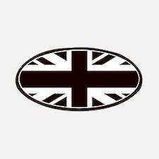 black union jack british flag Patch