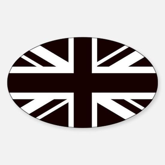 black union jack british flag Decal