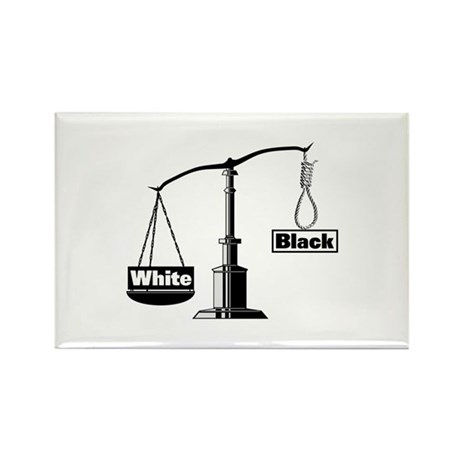 Racist Justice System Rectangle Magnet (10 pack)
