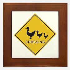 Ducks Crossing, Australia Framed Tile