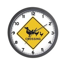 Ducks Crossing, Australia Wall Clock