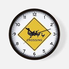 Ducks Crossing, Australia Wall Clock