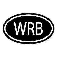 WRB Oval Decal