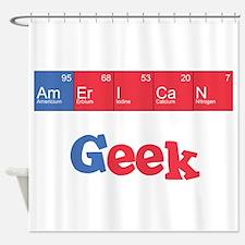 American Geek Shower Curtain