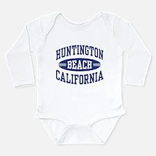 Huntington Beach CA Long Sleeve Infant Bodysuit