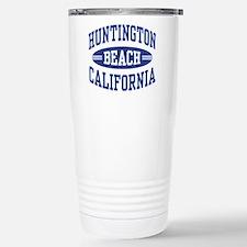 Huntington Beach CA Stainless Steel Travel Mug