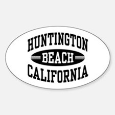 Huntington Beach CA Sticker (Oval)