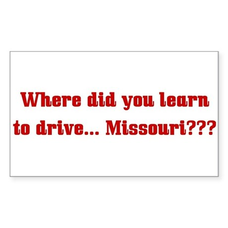 Drive Missouri Rectangle Sticker