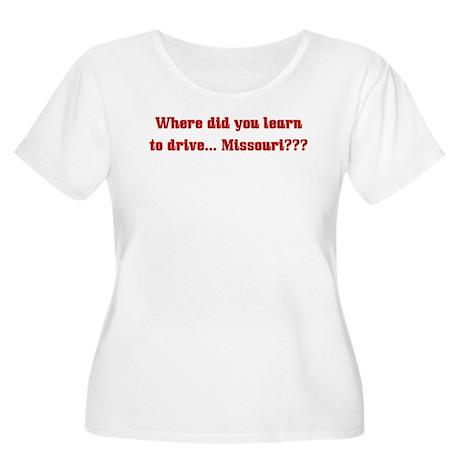 Drive Missouri Women's Plus Size Scoop Neck T-Shir