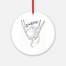 I Heart Rats Ornament (Round)