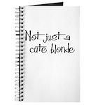 Not just a cute blonde! Journal