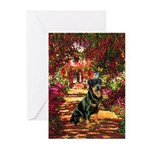 The Path / Rottie Greeting Cards (Pk of 10)