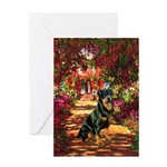 The Path / Rottie Greeting Card