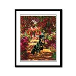 The Path / Rottie Framed Panel Print