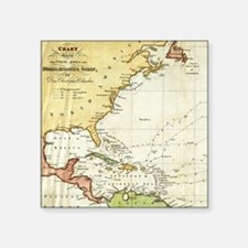 Vintage Christopher Columbus Voyage Map (1 Sticker