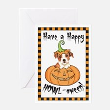 Halloween Parson Russell Greeting Card