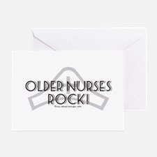 Older Nurses Rock! Greeting Cards