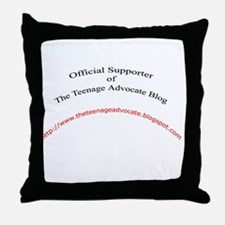 Official Teenage Advocate Blo Throw Pillow