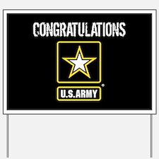 U.S. Army: Congratulations (Black) Yard Sign