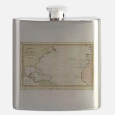 Vintage Christopher Columbus Voyage Map (182 Flask
