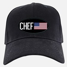 Careers: Chef (U.S. Flag) Baseball Hat