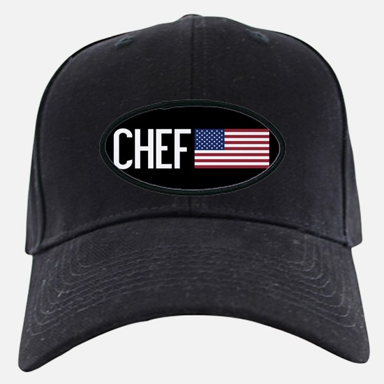 Careers: Chef (U.S. Flag) Baseball Hat