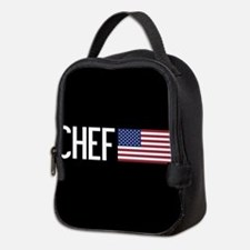 Careers: Chef (U.S. Flag) Neoprene Lunch Bag