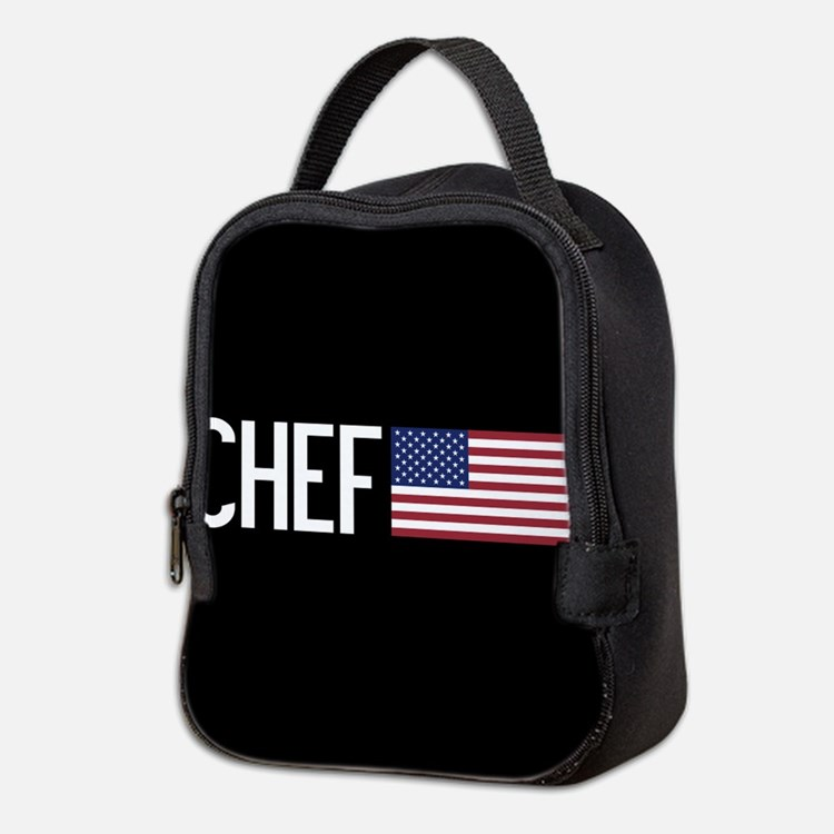 Careers: Chef (U.S. Flag) Neoprene Lunch Bag