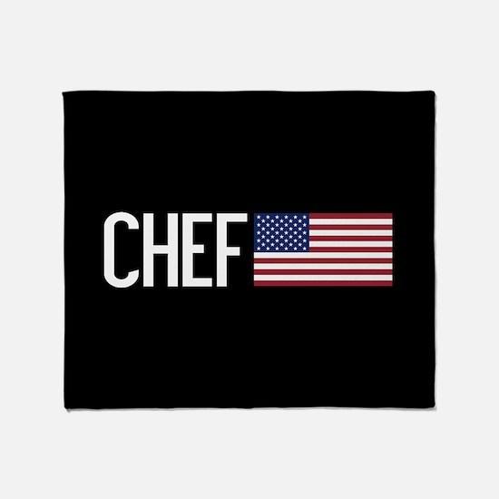 Careers: Chef (U.S. Flag) Throw Blanket