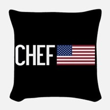 Careers: Chef (U.S. Flag) Woven Throw Pillow
