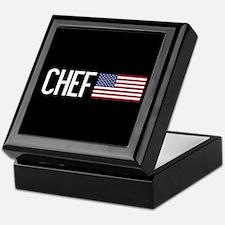 Careers: Chef (U.S. Flag) Keepsake Box